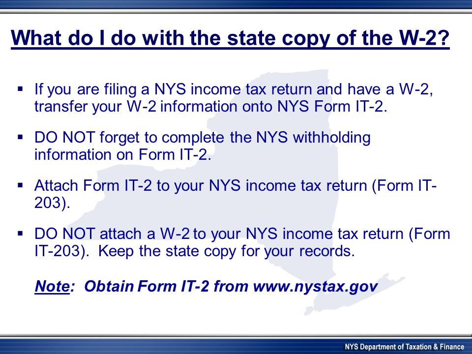 What do I do with the state copy of the W-2