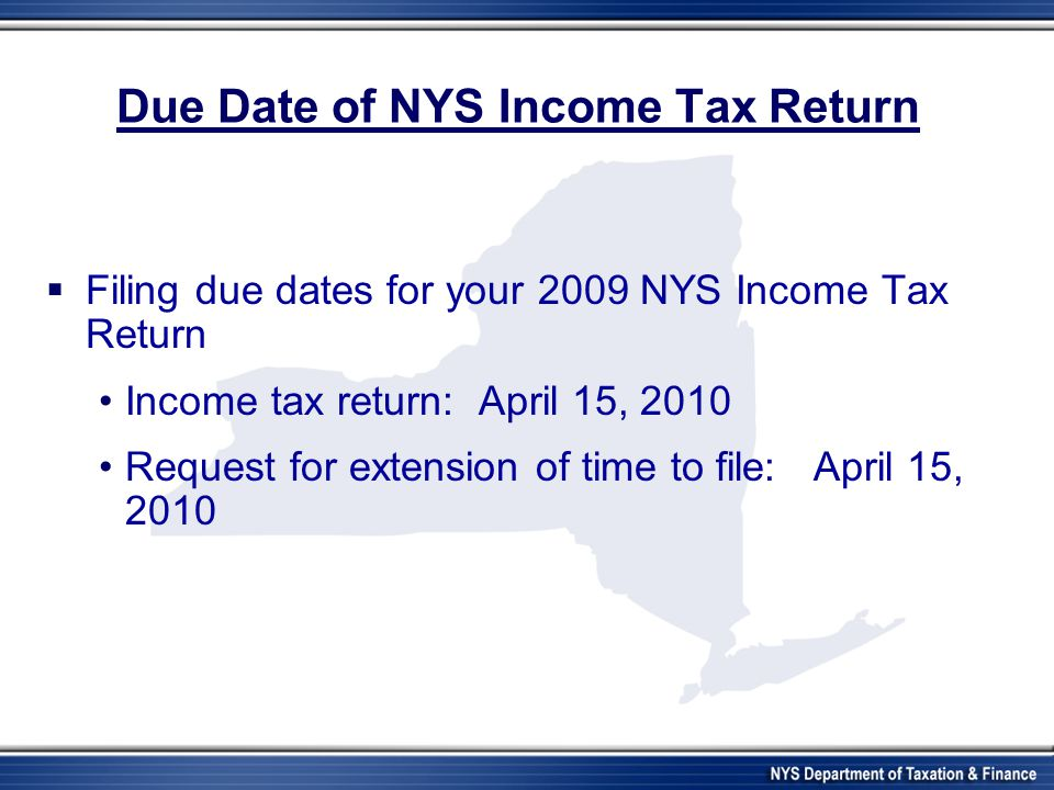 New York State Department of Taxation and Finance - ppt download