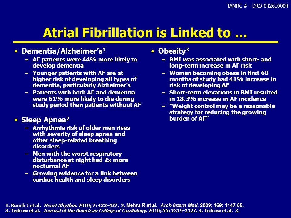 Atrial Fibrillation is Linked to …