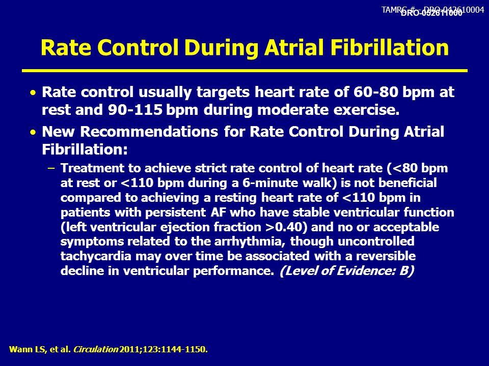 Rate Control During Atrial Fibrillation