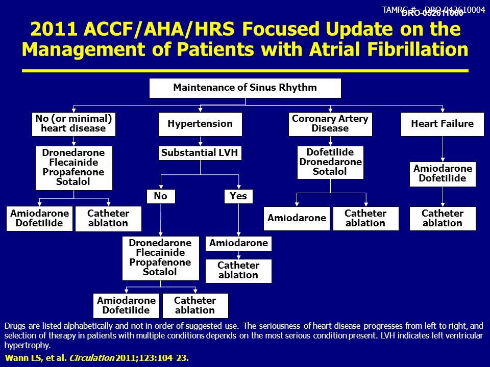 Maintenance of Sinus Rhythm No (or minimal) heart disease