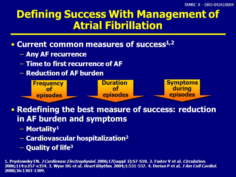 Defining Success With Management of Atrial Fibrillation