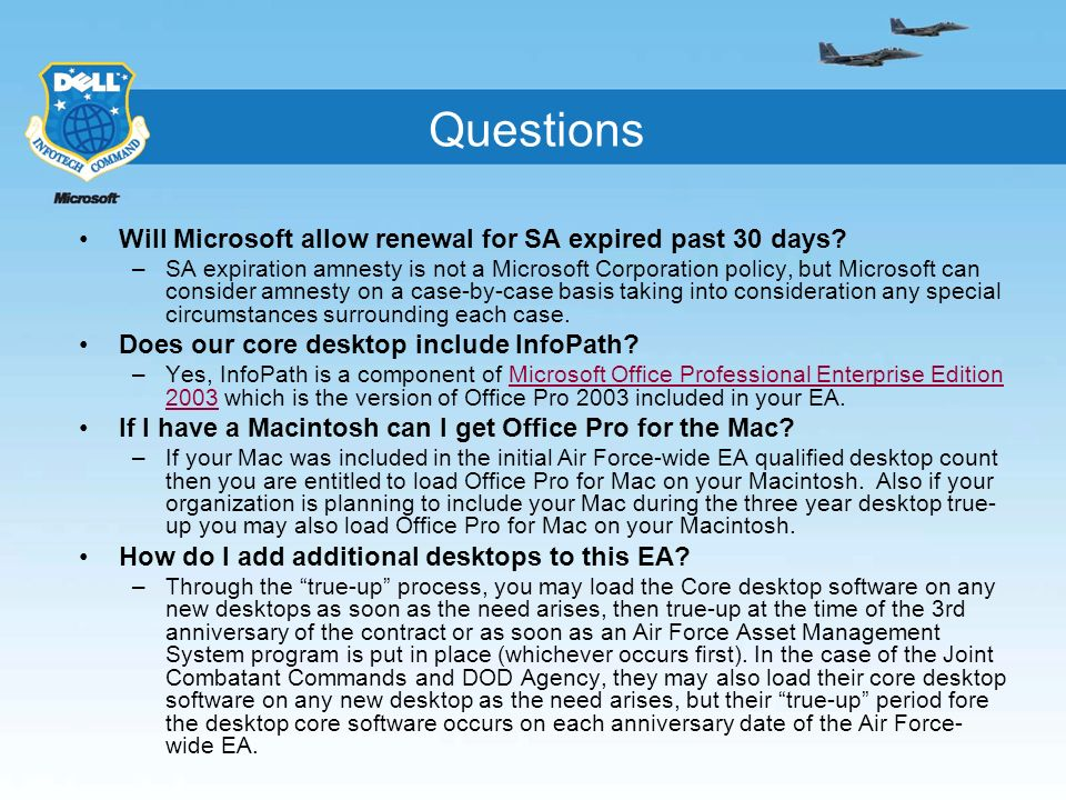 Questions Will Microsoft allow renewal for SA expired past 30 days