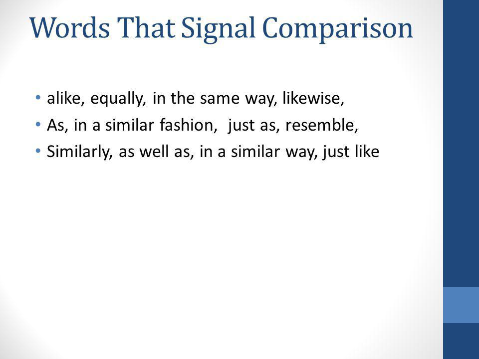 Words That Signal Comparison