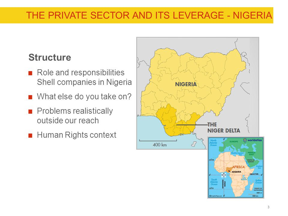 THE PRIVATE SECTOR AND ITS LEVERAGE - NIGERIA