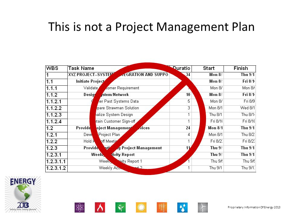 This is not a Project Management Plan