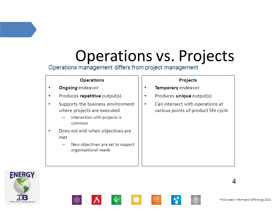 Operations vs. Projects