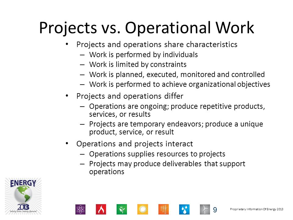 Projects vs. Operational Work