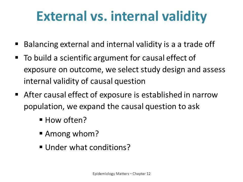 External vs. internal validity