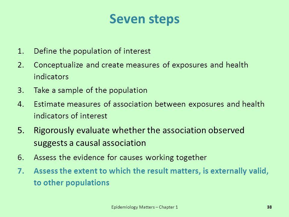 Epidemiology Matters – Chapter 1