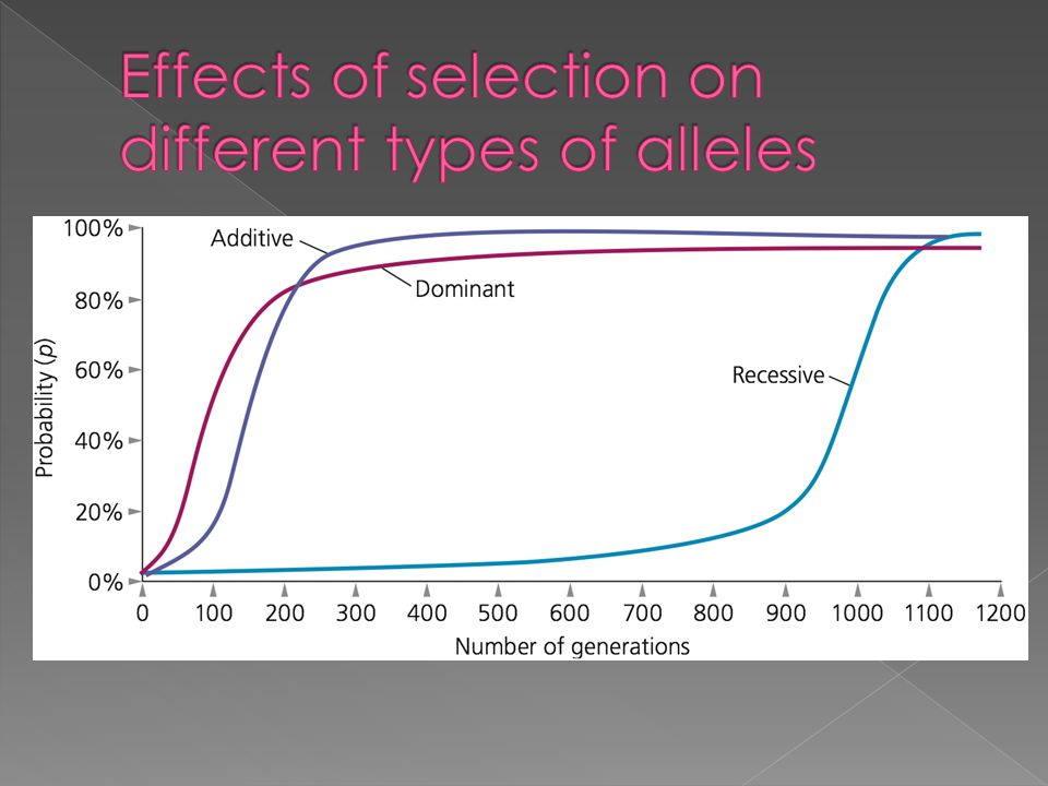 Effects of selection on different types of alleles