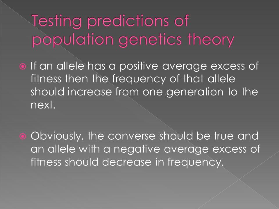 Testing predictions of population genetics theory