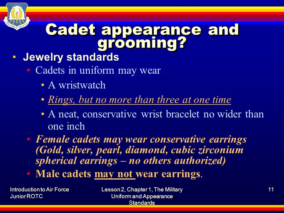 Cadet appearance and grooming