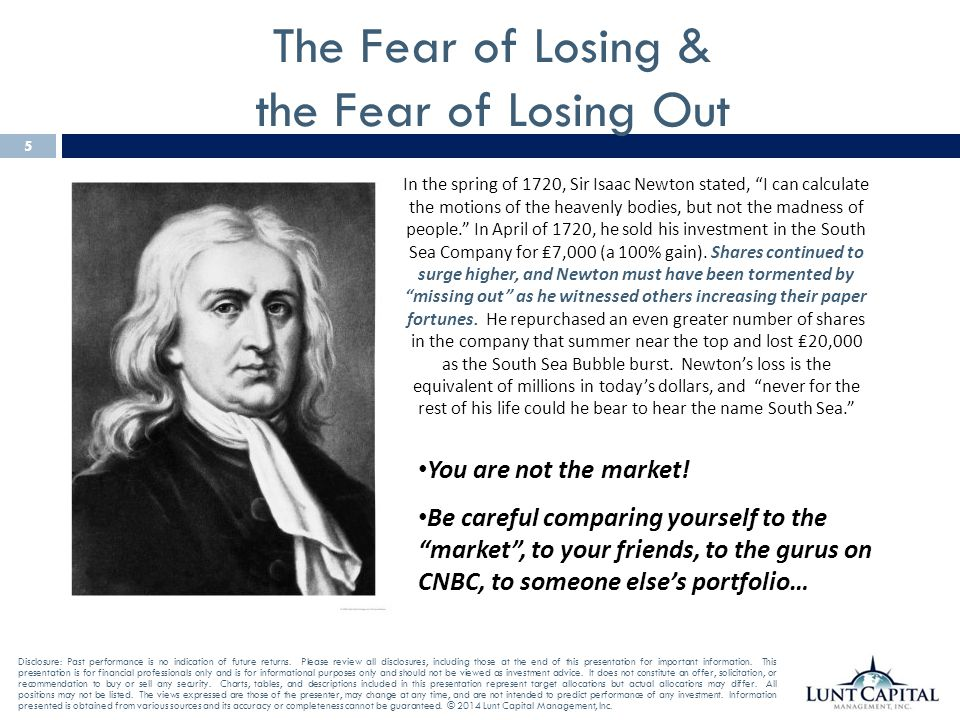 The Fear of Losing & the Fear of Losing Out