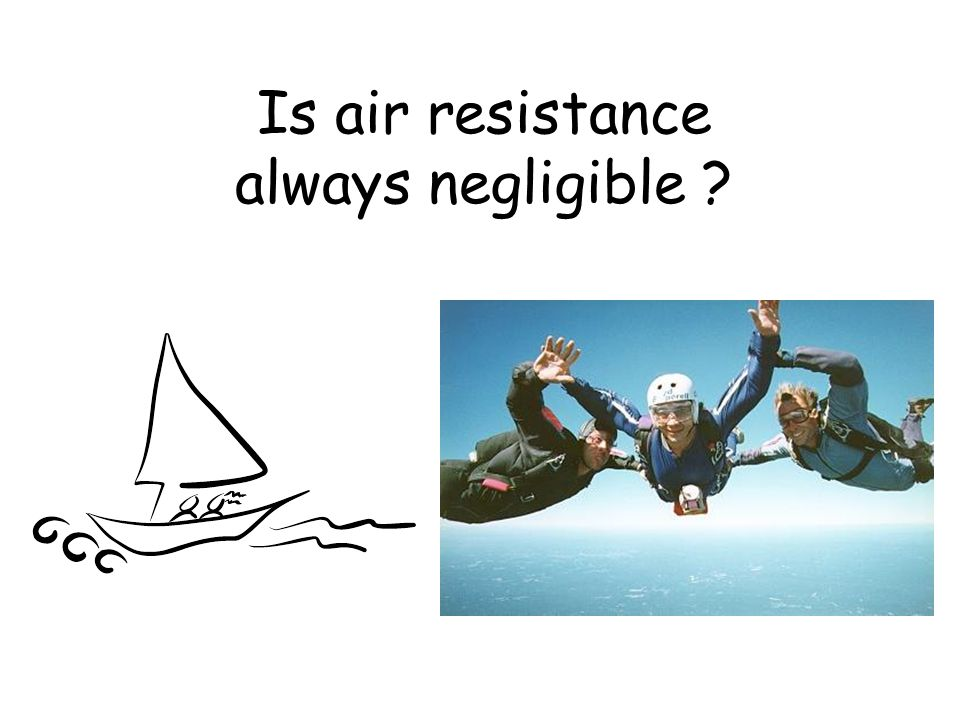 Is air resistance always negligible