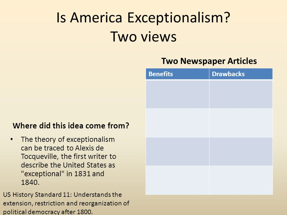 Is America Exceptionalism Two views