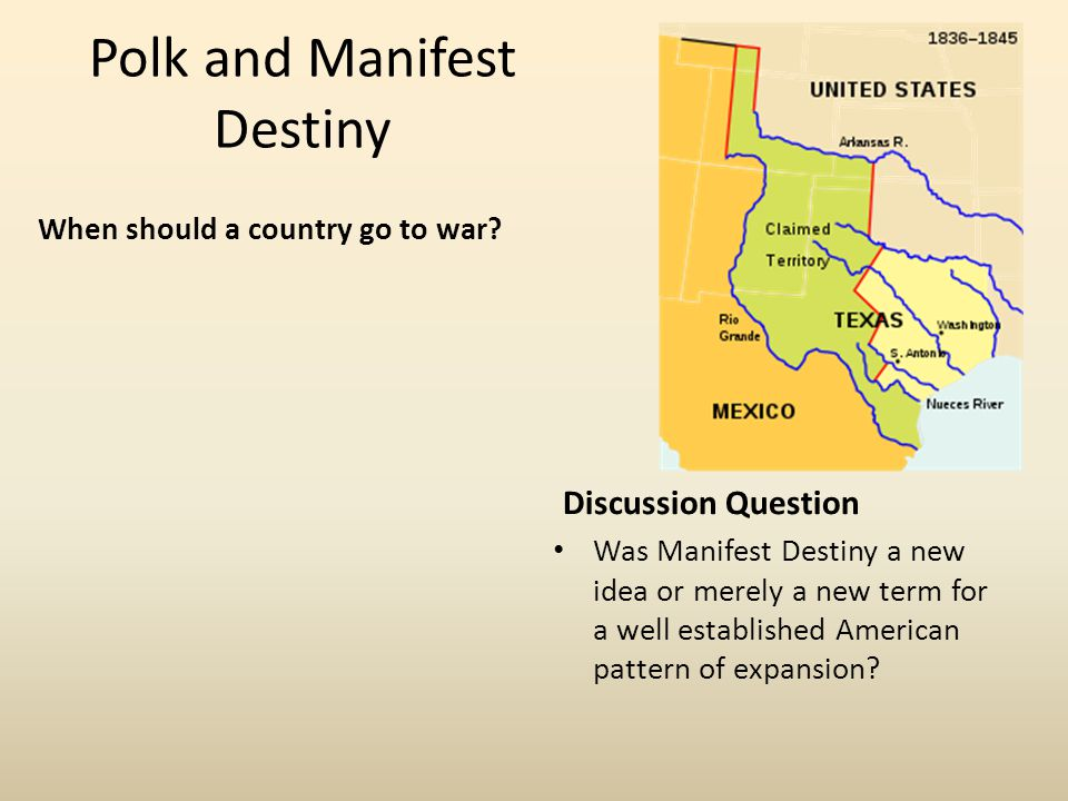 Polk and Manifest Destiny