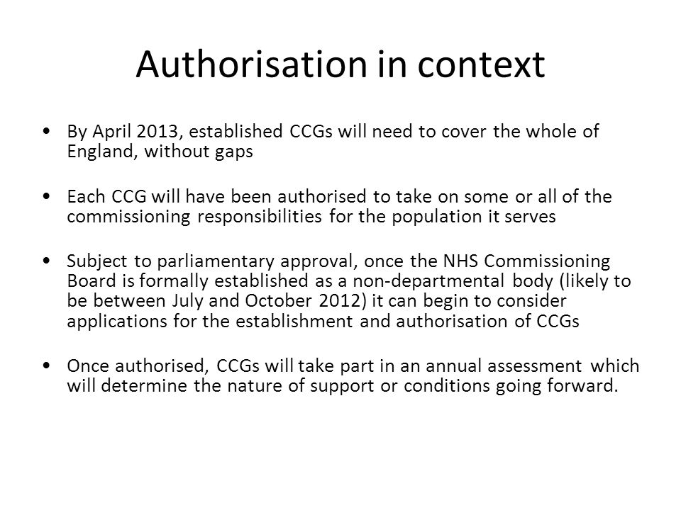 Authorisation in context