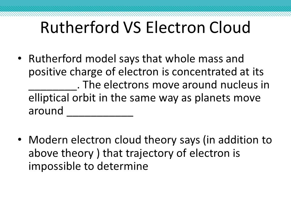 Rutherford VS Electron Cloud