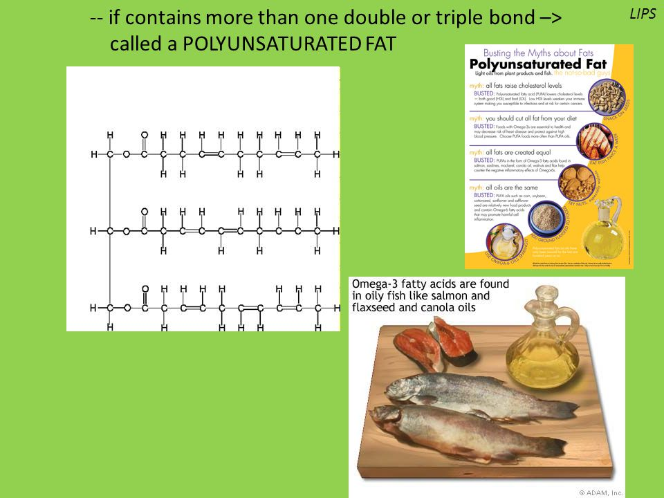-- if contains more than one double or triple bond –>