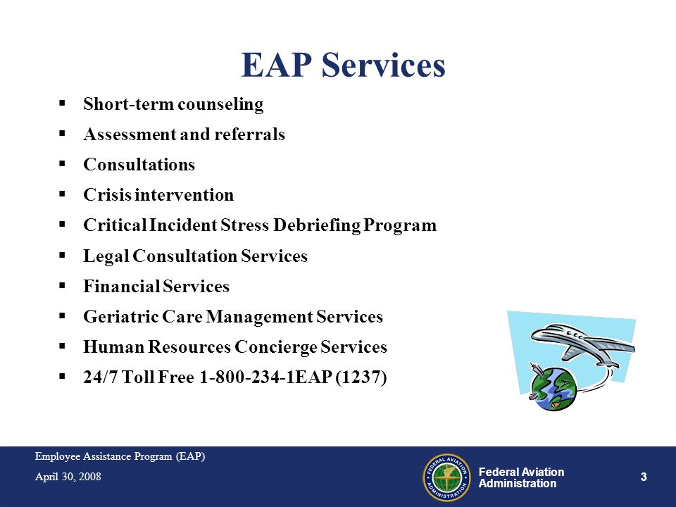 EAP Services Short-term counseling Assessment and referrals