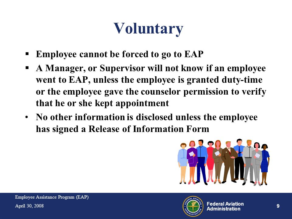 Voluntary Employee cannot be forced to go to EAP