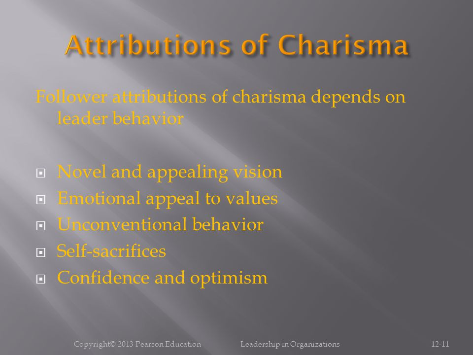 Attributions of Charisma
