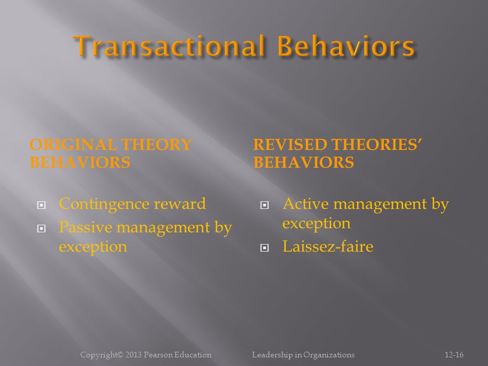 Transactional Behaviors