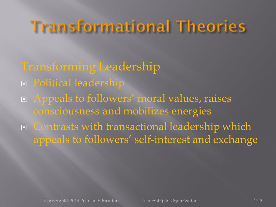 Transformational Theories
