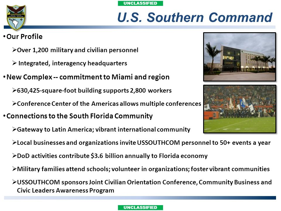 U.S. Southern Command Our Profile