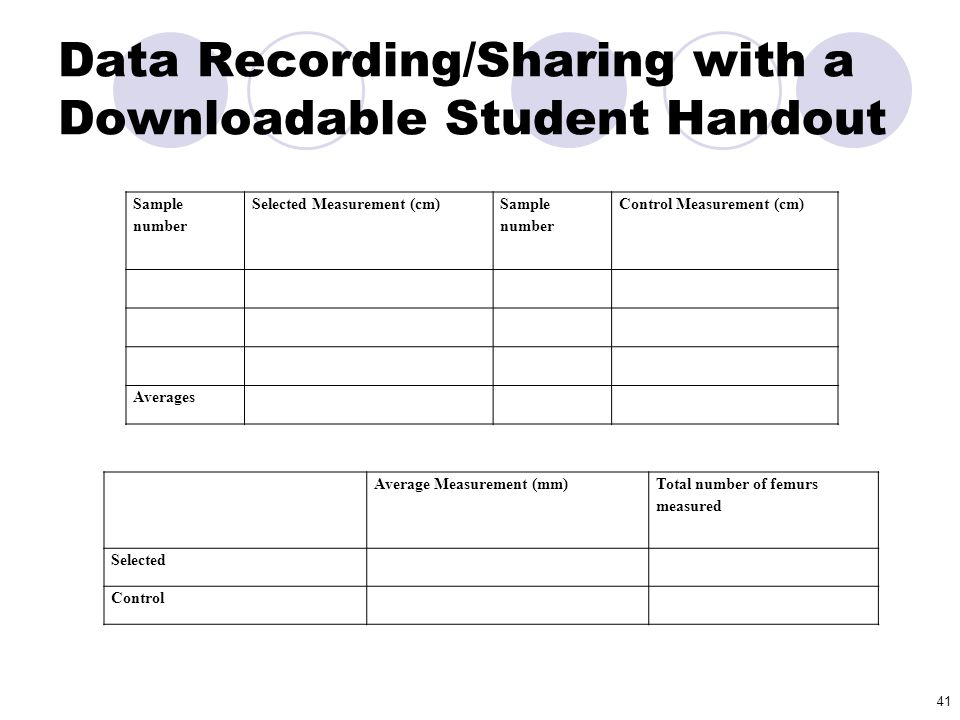 Data Recording/Sharing with a Downloadable Student Handout