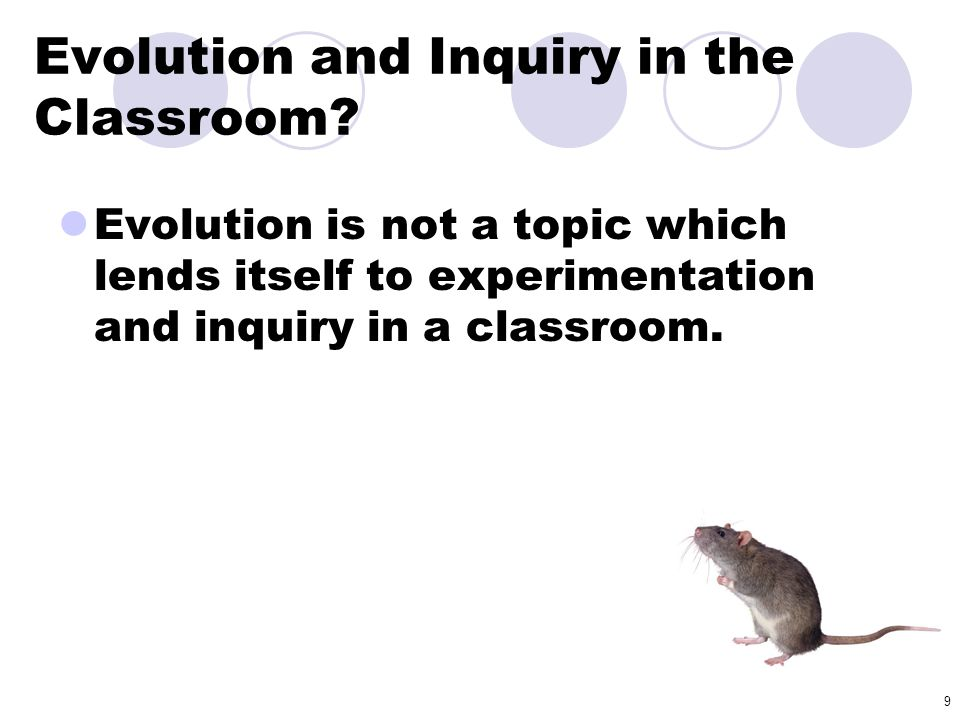 Evolution and Inquiry in the Classroom