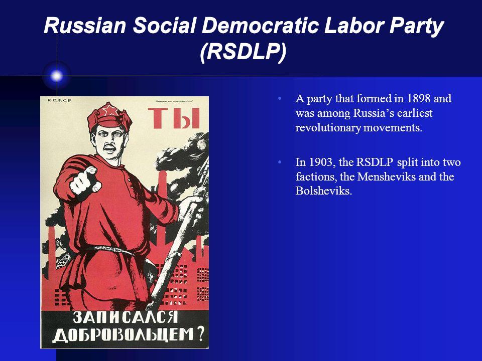 Russian Social Democratic Labor Party (RSDLP)