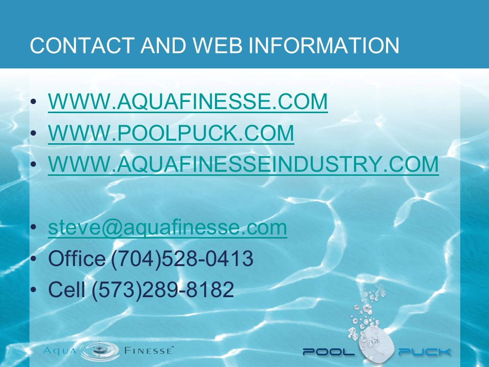 CONTACT AND WEB INFORMATION