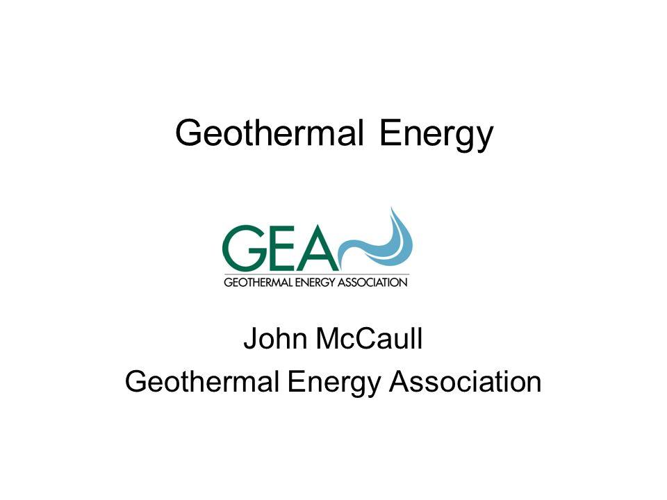 John McCaull Geothermal Energy Association