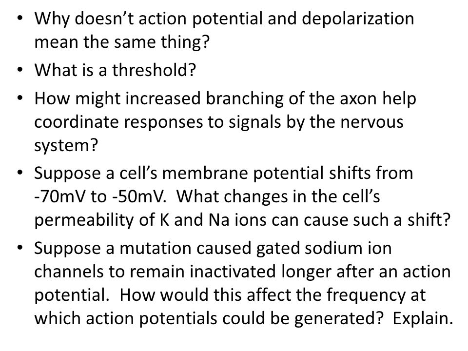 Why doesn't action potential and depolarization mean the same thing