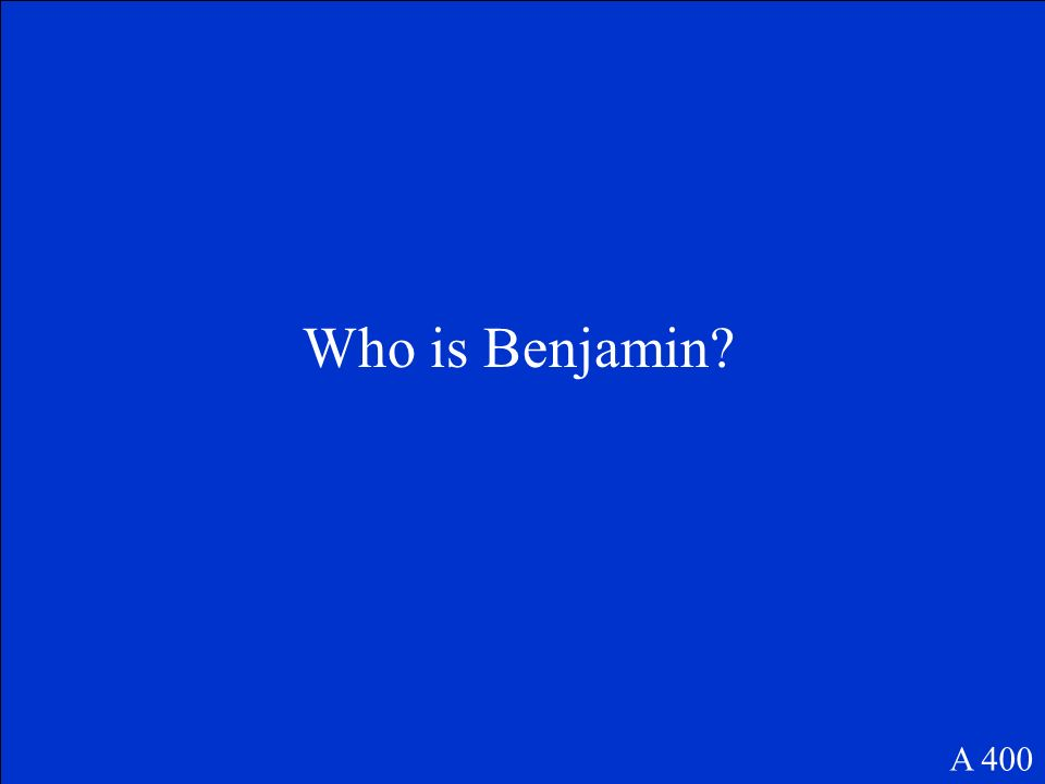 Who is Benjamin A 400