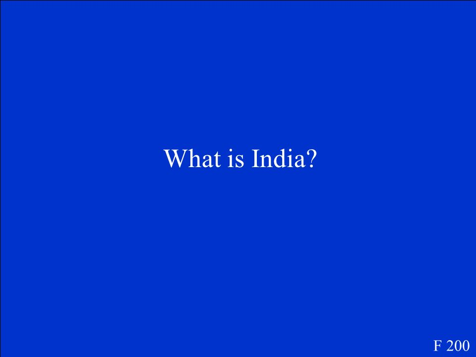 What is India F 200