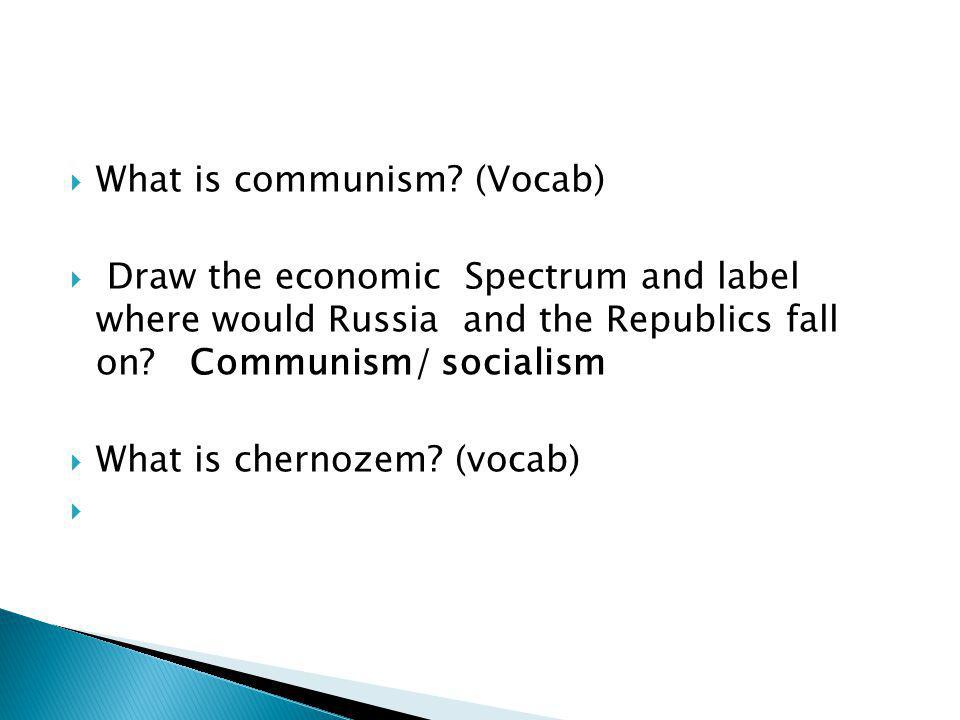 What is communism (Vocab)