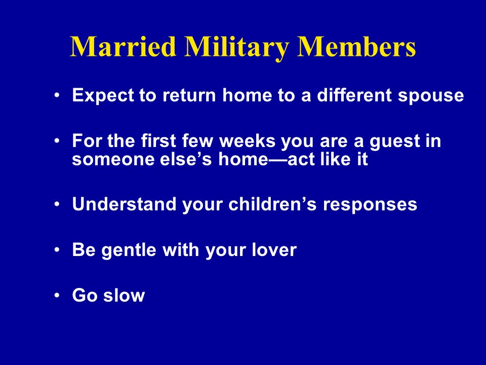 Married Military Members