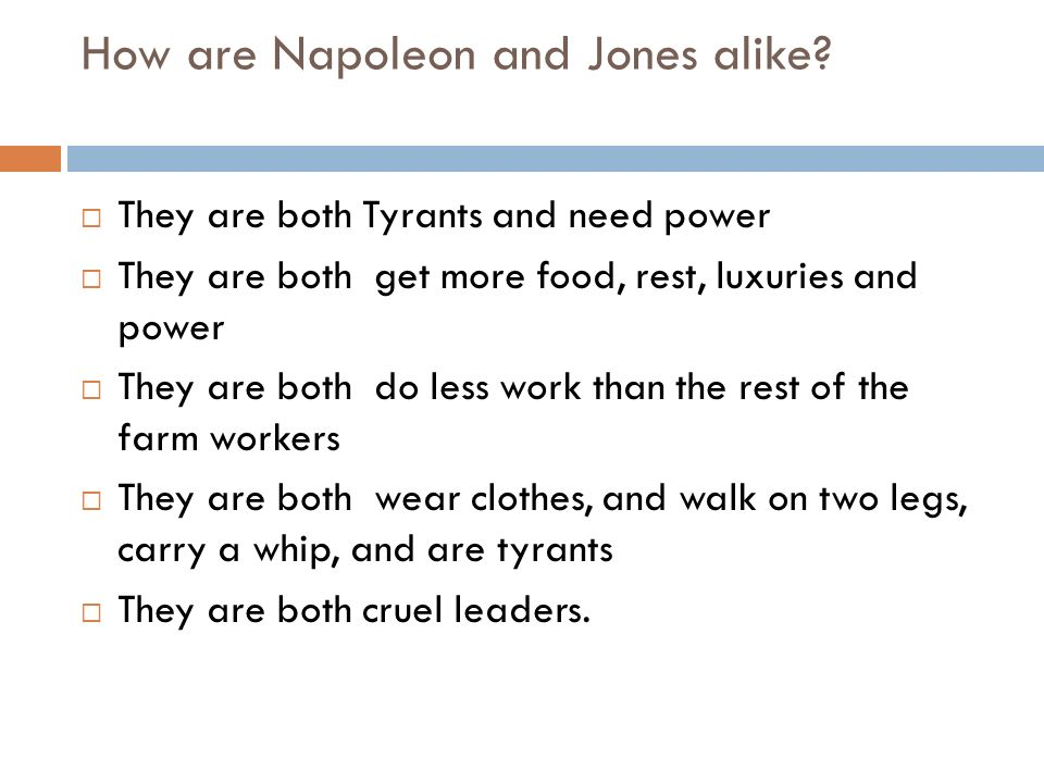 How are Napoleon and Jones alike