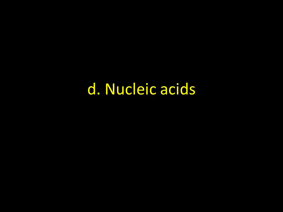 d. Nucleic acids