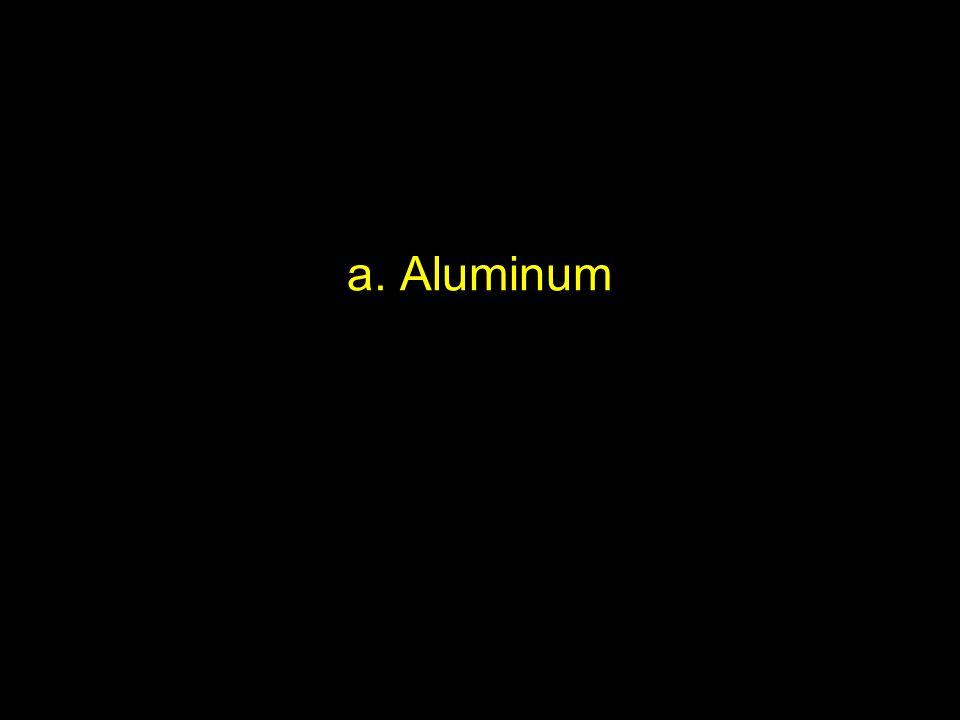 a. Aluminum