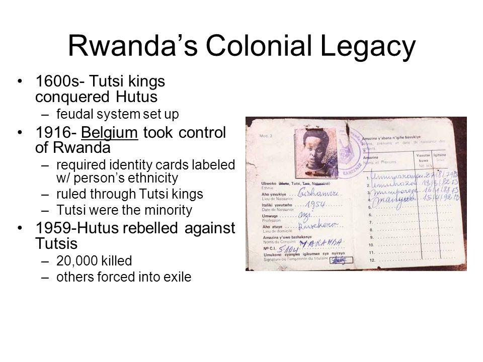Rwanda's Colonial Legacy