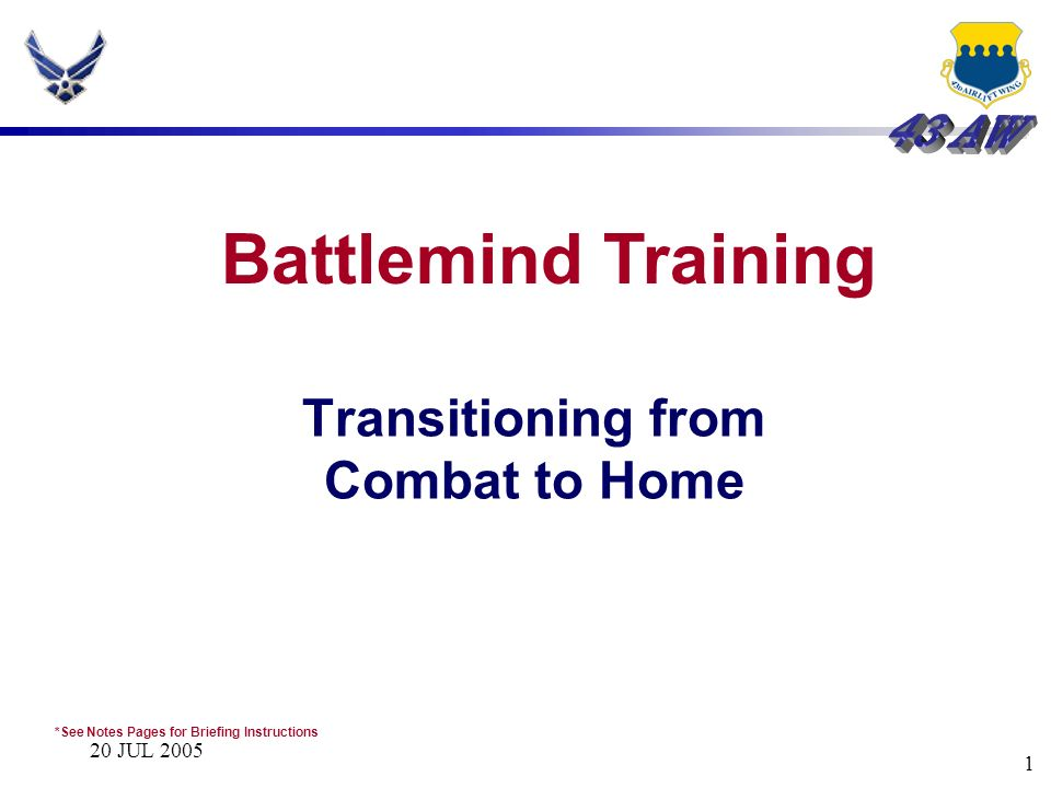 Transitioning from Combat to Home