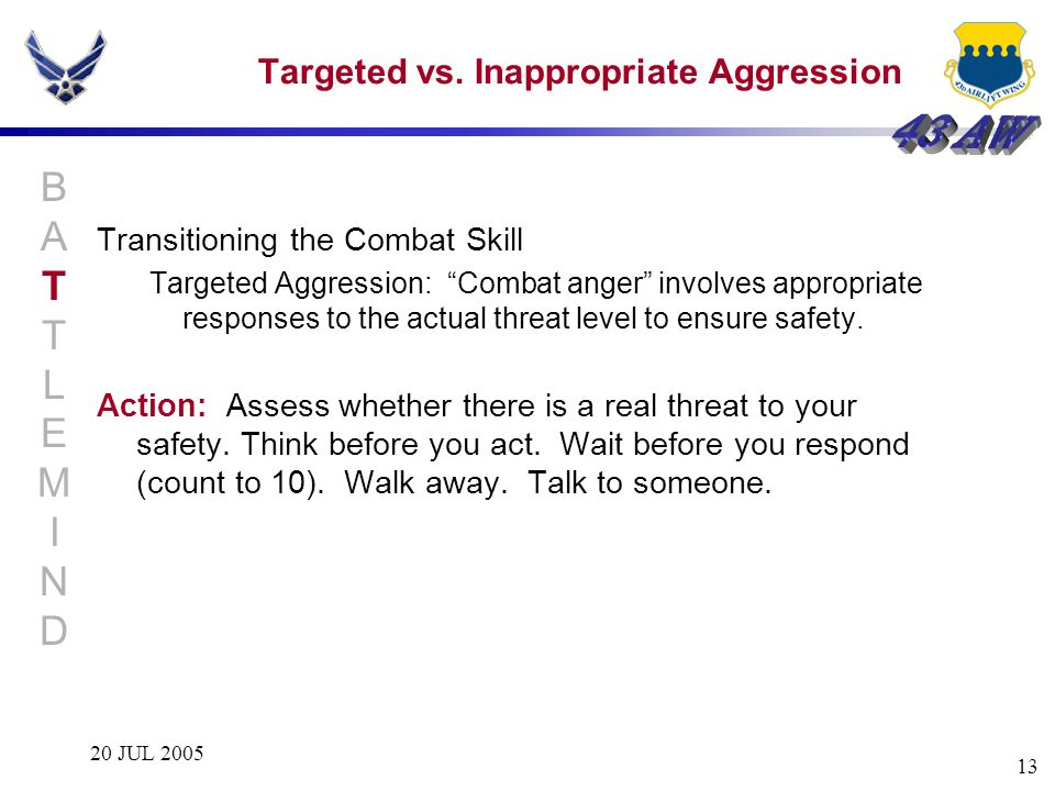 Targeted vs. Inappropriate Aggression