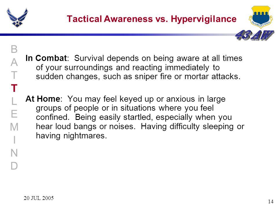 Tactical Awareness vs. Hypervigilance