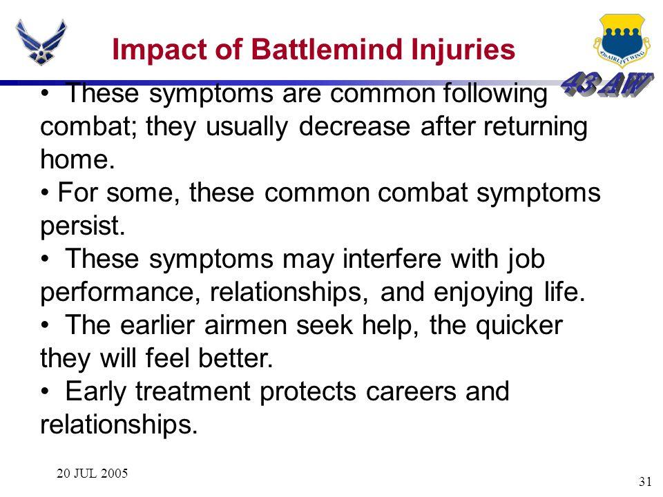 Impact of Battlemind Injuries