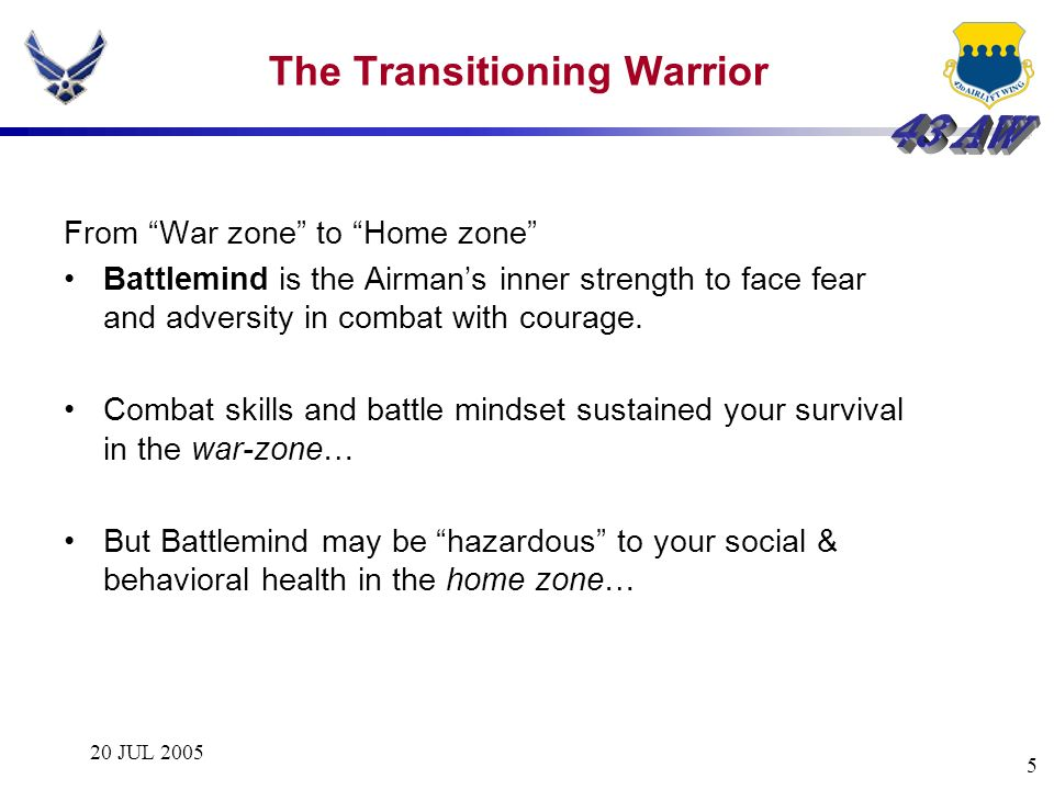 The Transitioning Warrior
