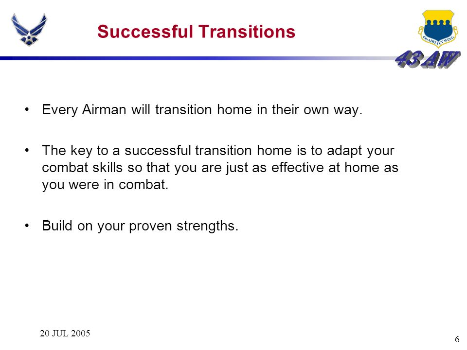 Successful Transitions